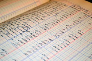 An example of a bookkeeping ledger for bookkeeping for the self-employed.